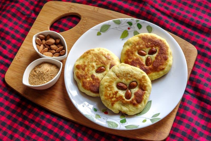 Pancake coreano ed alimento popolare della via della Corea fotografia stock libera da diritti