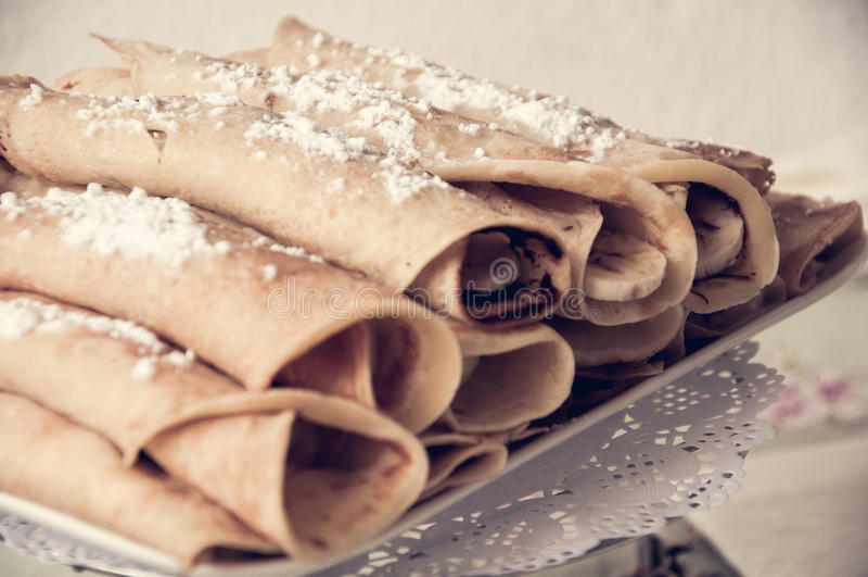 Pancake del Blini immagini stock