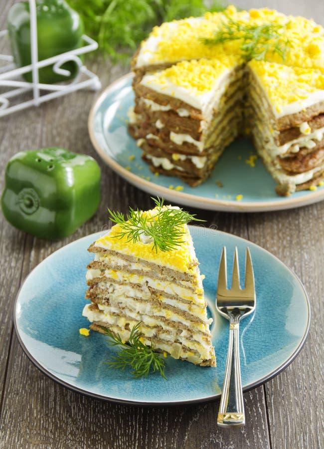 Pancake del dolce dal fegato immagini stock libere da diritti