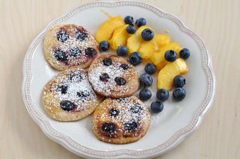 Pancake del mirtillo immagine stock