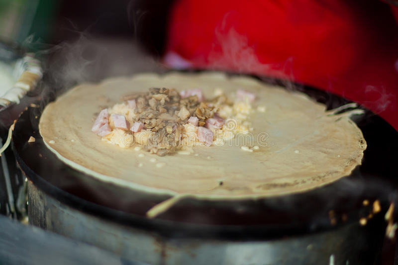 Pancake della via fotografia stock libera da diritti