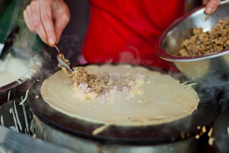 Pancake della via fotografie stock libere da diritti