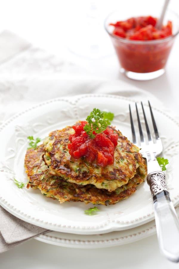 Pancake dello zucchini immagine stock libera da diritti