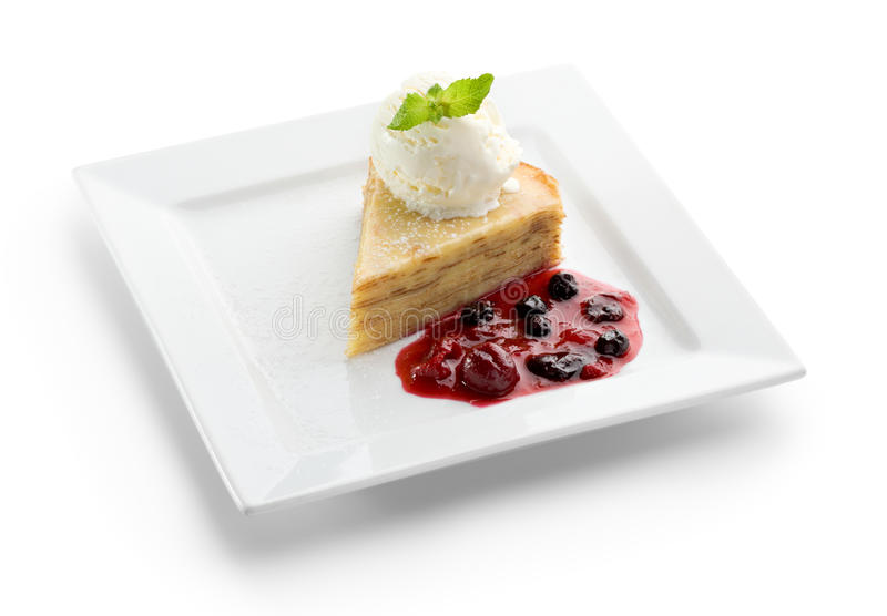 Download Pancake Dessert stock photo. Image of cream, pancake - 16450914