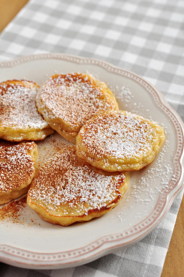 Pancake di Apple fotografie stock