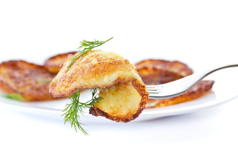 Pancake di patata fotografia stock libera da diritti