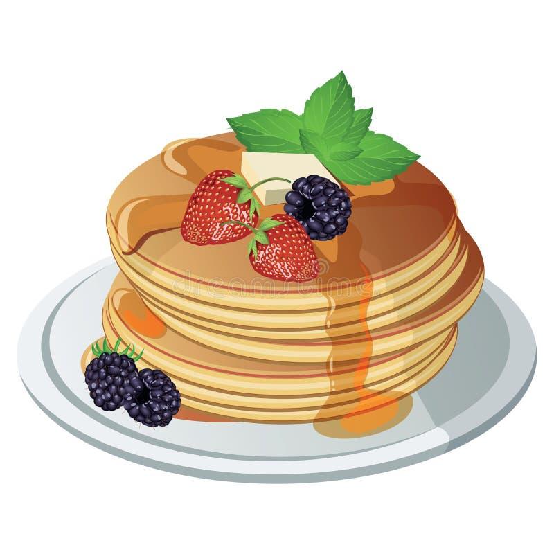 Pancake di vettore Fondo isolato illustrazione vettoriale