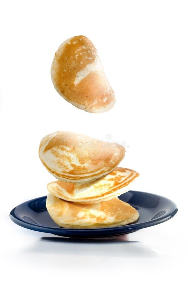 Pancake di volo fotografie stock libere da diritti