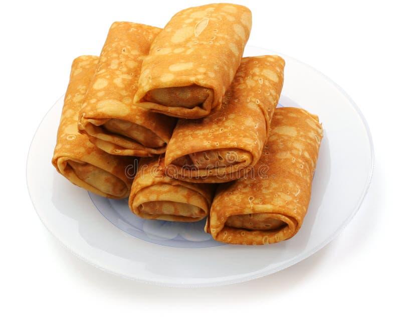 Pancake farciti fotografie stock