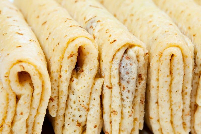 Pancake farcito congelato fotografia stock