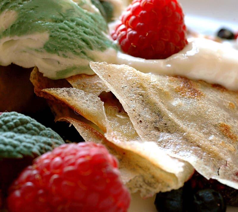 Pancake with fruits royalty free stock photos