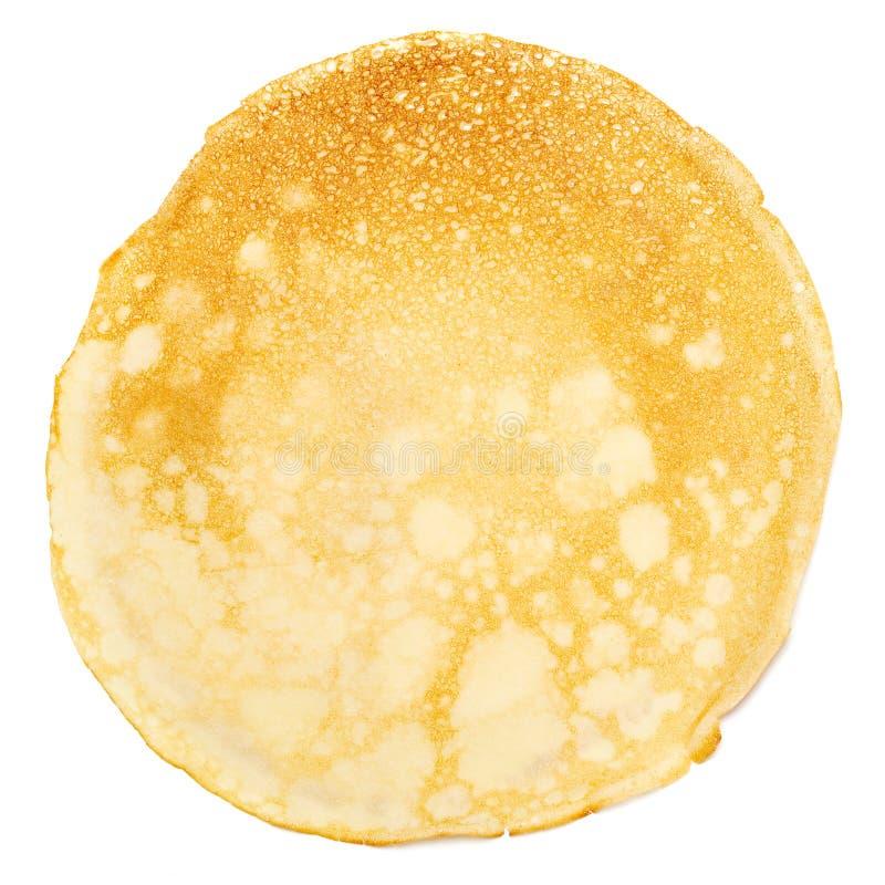Pancake isolated on white. royalty free stock photo