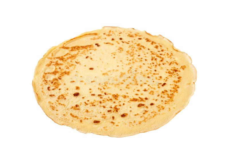 Pancake isolated on white stock photos