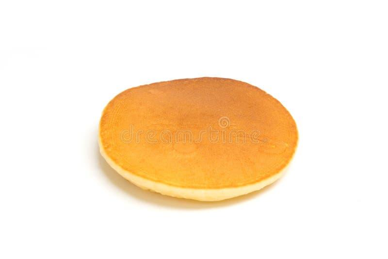 Pancake isolato su priorità bassa bianca immagini stock libere da diritti