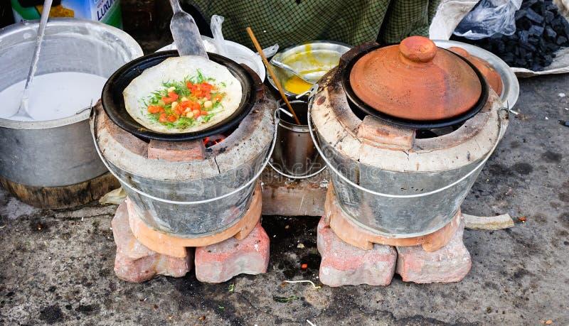 Pancake in Mandalay, Myanmar royalty-vrije stock foto