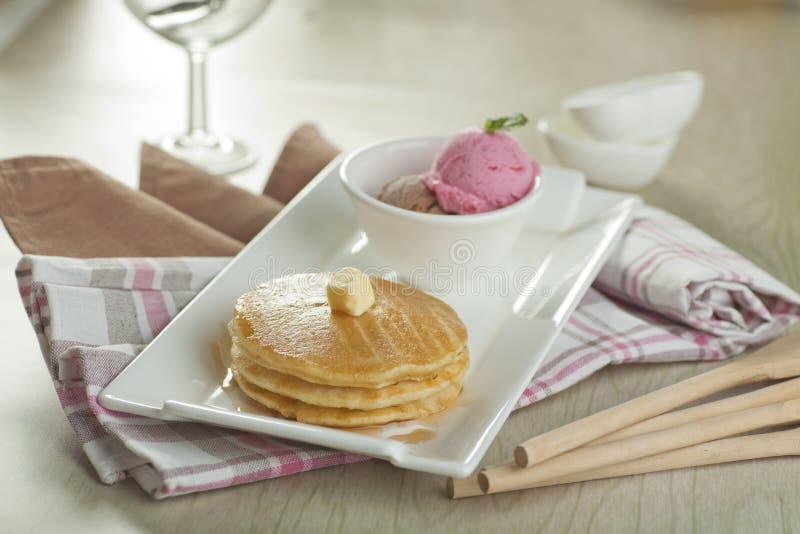 Pancake Maple royalty free stock image