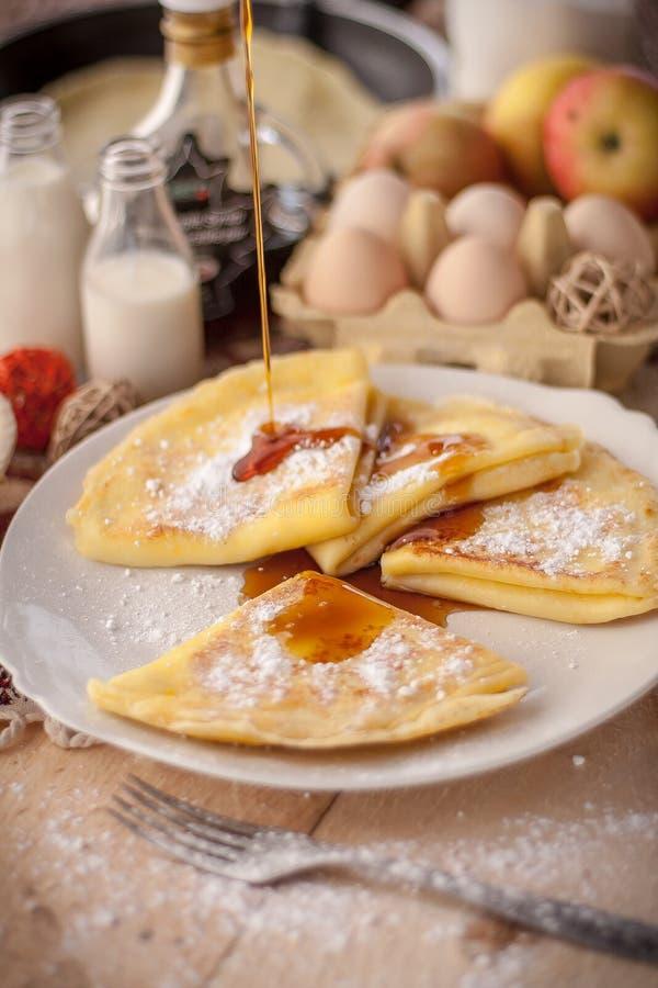 Pancake nel villaggio fotografia stock libera da diritti