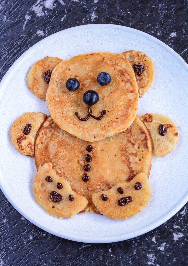 Pancake per i bambini fotografia stock