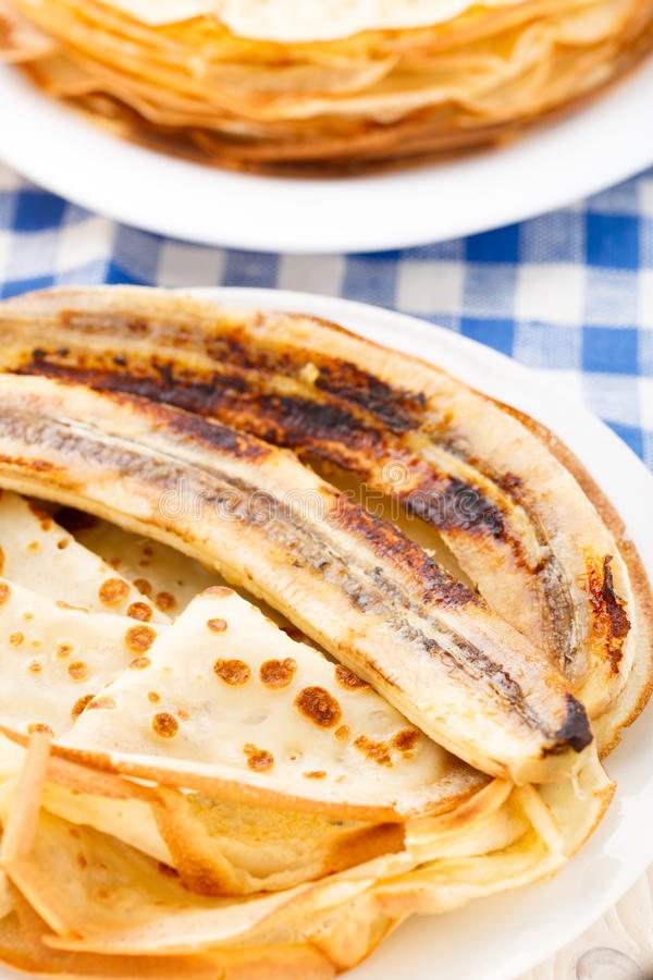 Pancake on a plate stock photography