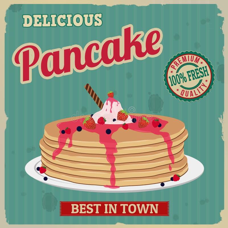 Free Pancake Retro Poster Royalty Free Stock Image - 49319596