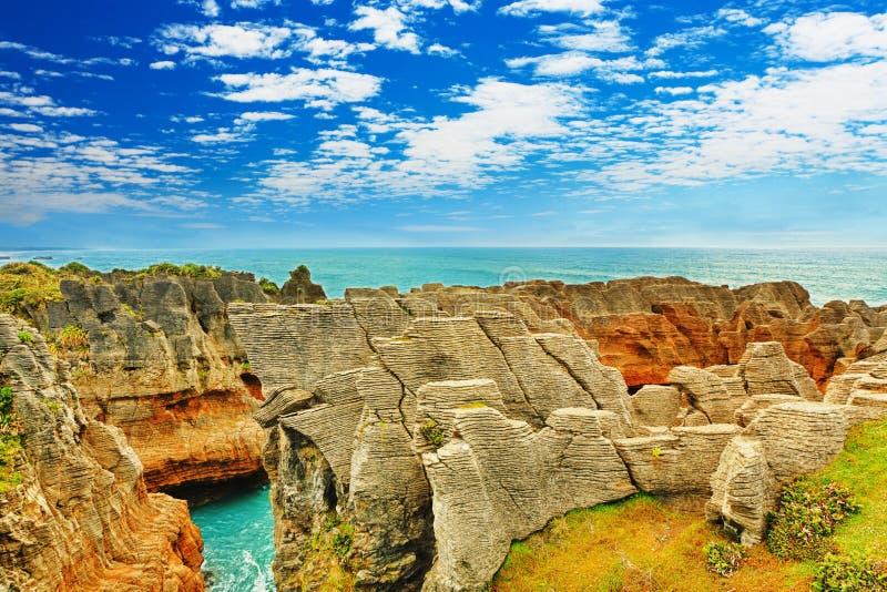 Pancake Rocks royalty free stock photos