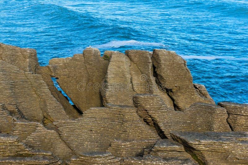 Pancake Rocks in Paparoa National Park, Punakaki rocks royalty free stock photos
