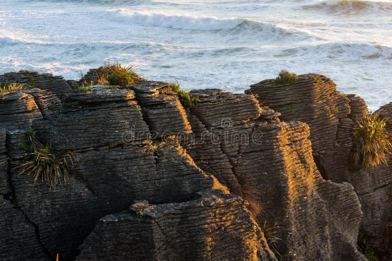 Pancake Rocks in Paparoa National Park. Punakaki rocks, New Zeal royalty free stock photography