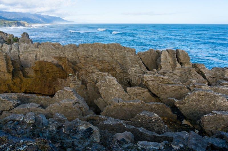 Pancake Rocks in Paparoa National Park, Punakaki rocks royalty free stock image