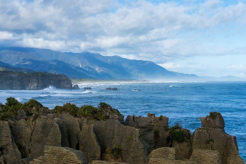 Pancake Rocks in Paparoa National Park, Punakaki rocks royalty free stock photography