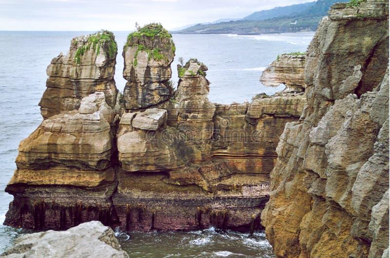 The Pancake Rocks Punakaiki royalty free stock photos