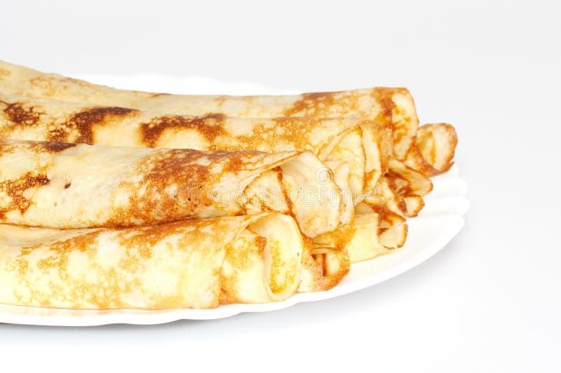 Pancake rotolati fotografie stock libere da diritti