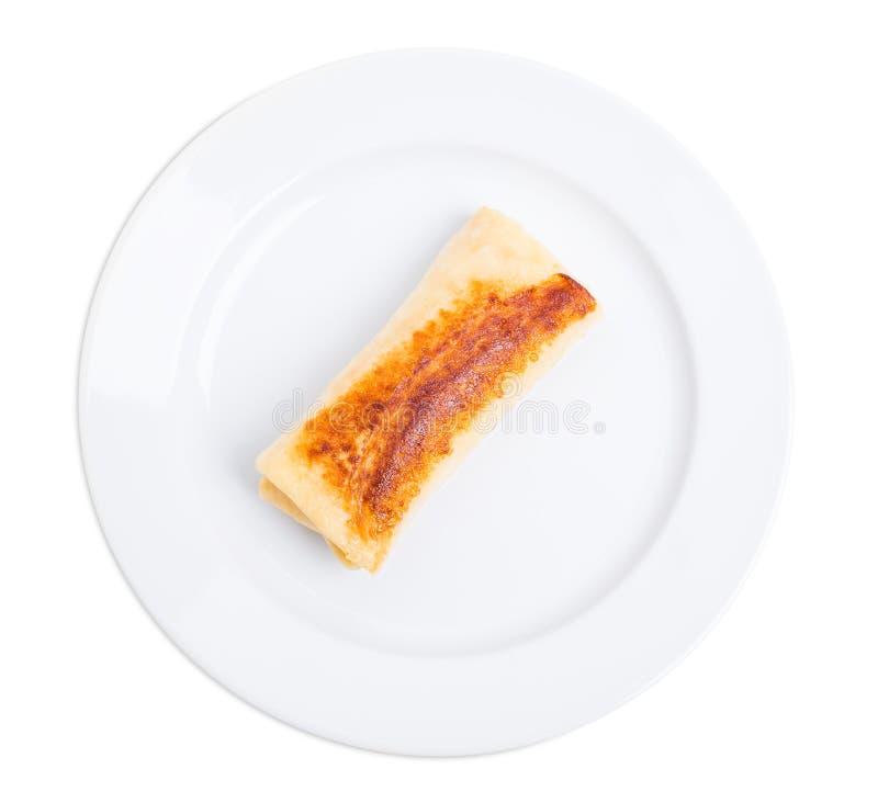 Pancake russo farcito con formaggio cremoso fotografie stock libere da diritti