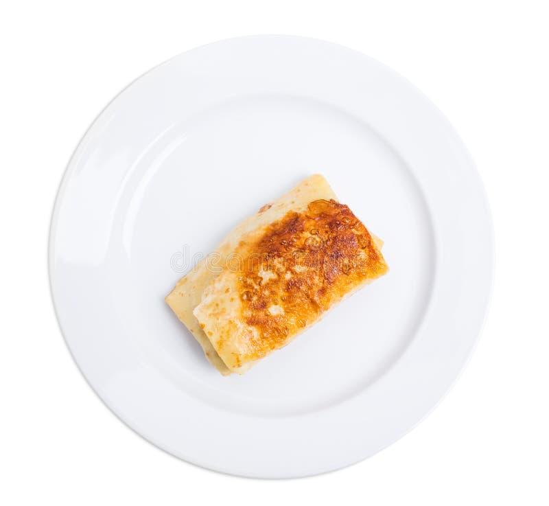 Pancake russo farcito con il ripieno della carne di maiale fotografia stock