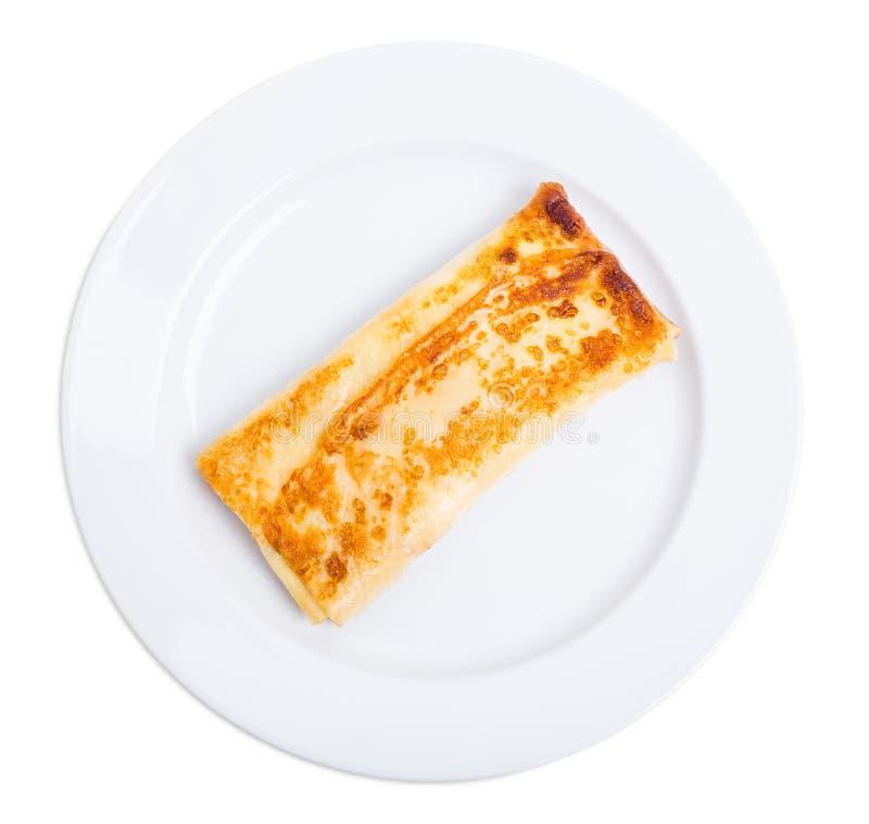 Pancake russo farcito con la ricotta salata immagini stock