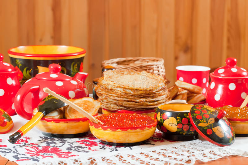 Pancake During  Shrovetide Stock Photography