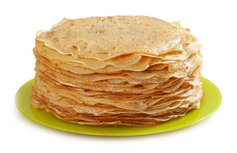 Pancake sottili immagine stock libera da diritti