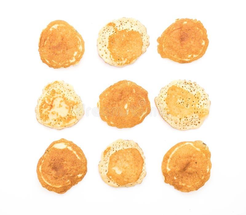 Pancake su bianco immagini stock libere da diritti