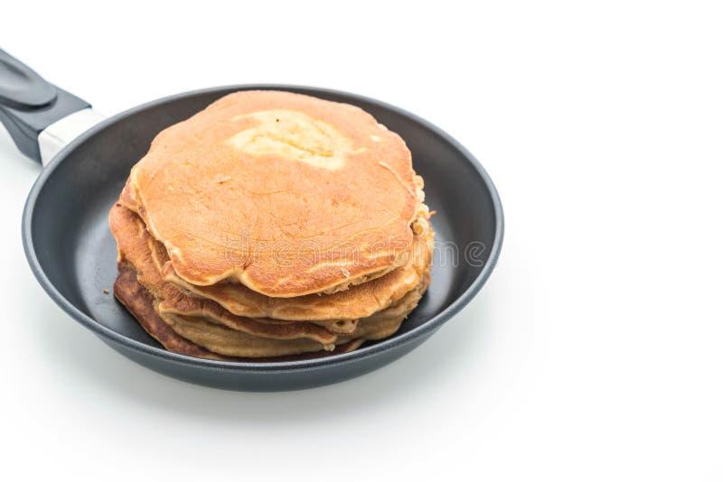 Pancake su fondo bianco fotografia stock libera da diritti