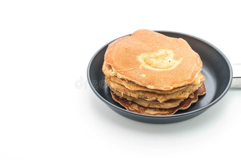 Pancake su fondo bianco fotografie stock libere da diritti