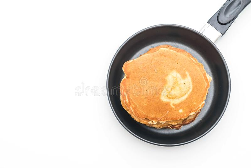 Pancake su fondo bianco fotografia stock