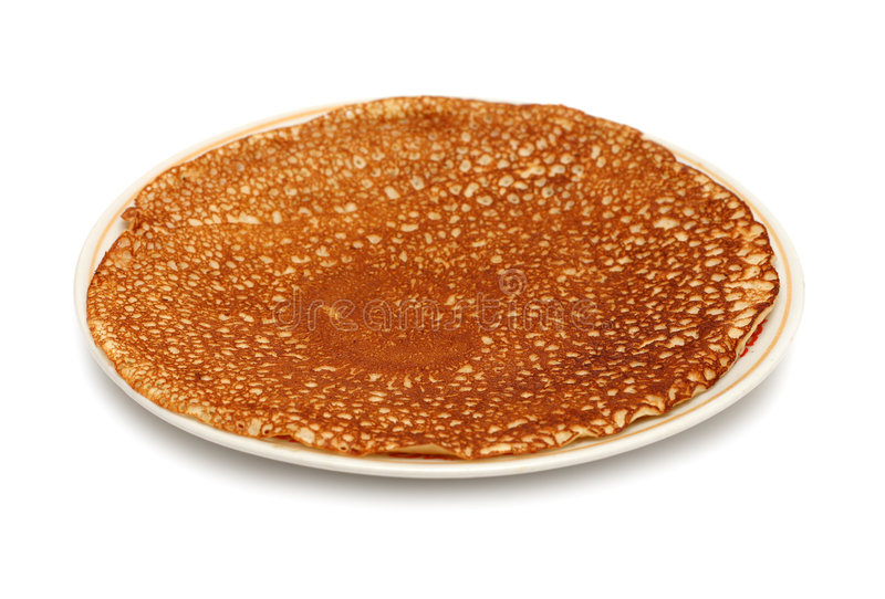 Pancake sulla zolla immagine stock libera da diritti