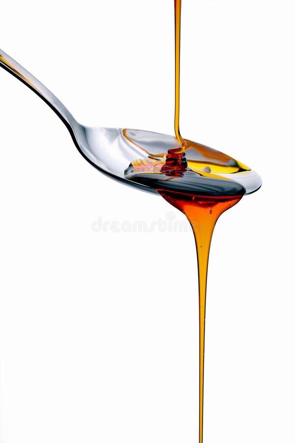 Pancake syrup royalty free stock photography