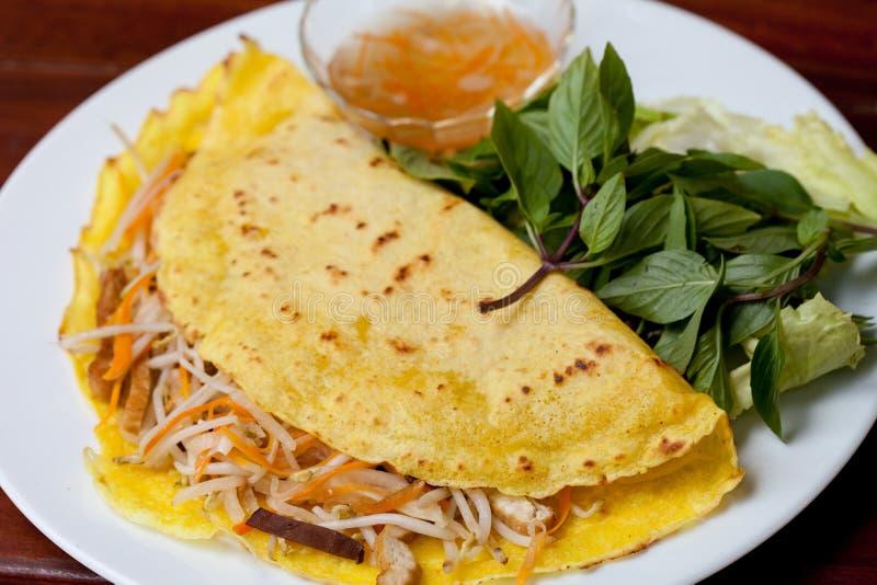 Pancake vietnamita, xeo del banh fotografie stock