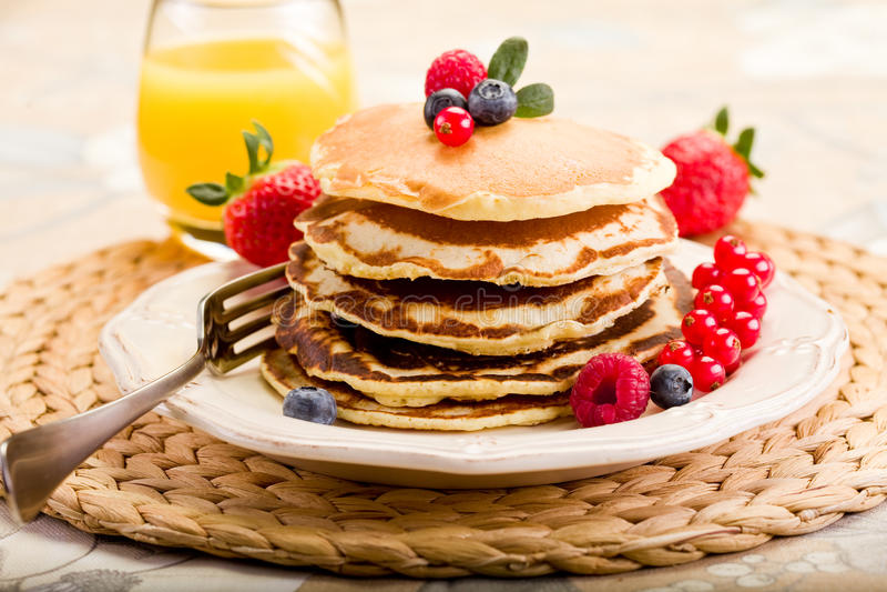 Download Pancakes stock photo. Image of energy, drink, honey, raspberries - 23097518