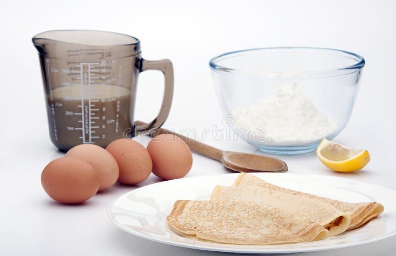 Download Pancakes stock photo. Image of snack, glass, lemon, white - 23300546