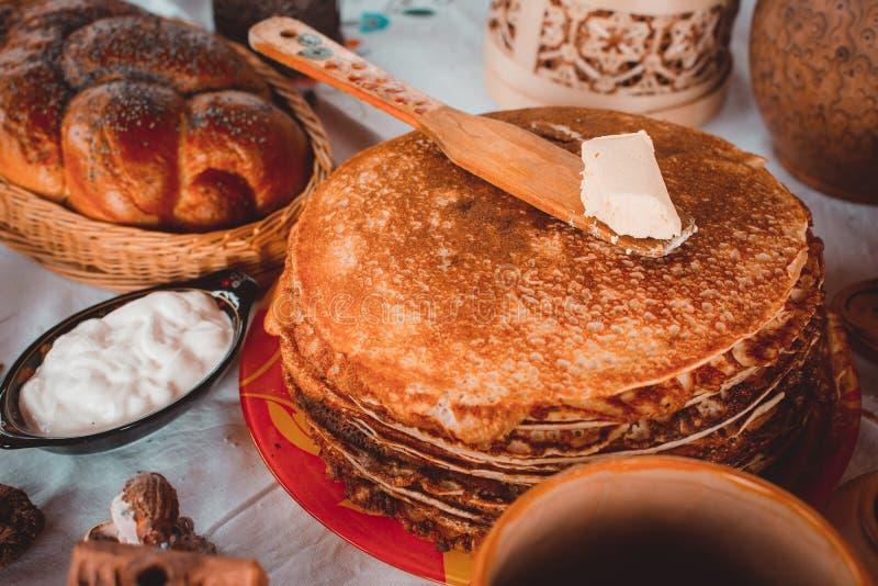pancakes imagem de stock