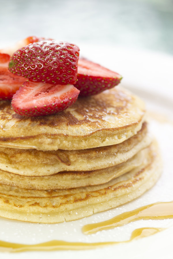 Pancakes anyone?. A delicious stack of pancakes royalty free stock photography