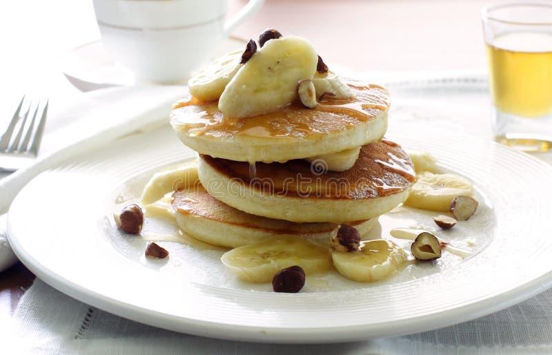 Download Pancakes with banana stock photo. Image of breakfast, pancake - 9947318