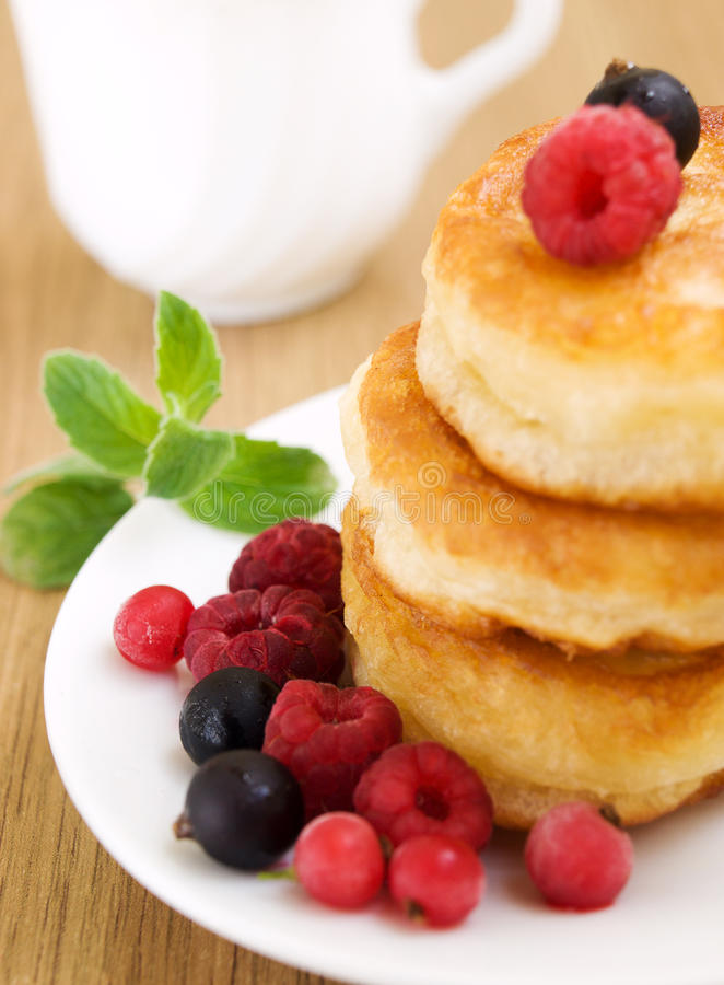 Pancakes With Berries Stock Photo