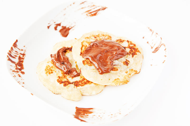 Download Pancakes with chocolate stock photo. Image of dessert - 28874698